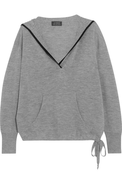 J.Crew - Hooded Cashmere Sweater - Gray