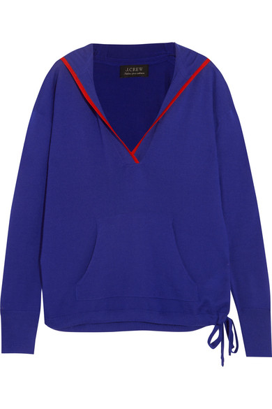 J.Crew - Hooded Cashmere Sweater - Blue
