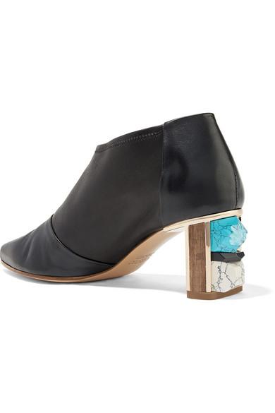 Gabriela Hearst Catt verzierte Ankle Boots aus Leder