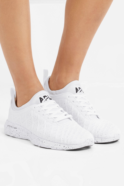 White TechLoom Phantom 3D mesh sneakers