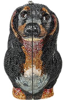 Judith LeiberDachshund fine crystal-embellished clutch
