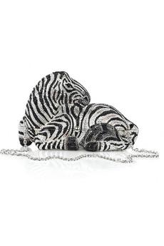 Judith Leiber|Zebra fine crystal-embellished clutch|NET-A-PORTER.COM