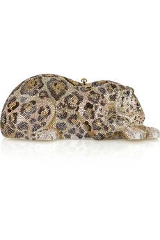 Judith Leiber|Wildcat crystal-embellished clutch|NET-A-PORTER.COM from net-a-porter.com