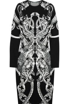 Alexander McQueenIntarsia wool and silk-blend dress