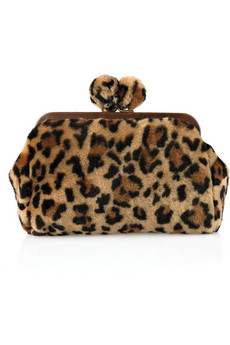 Miu Miu|Leopard-print shearling clutch from net-a-porter.com