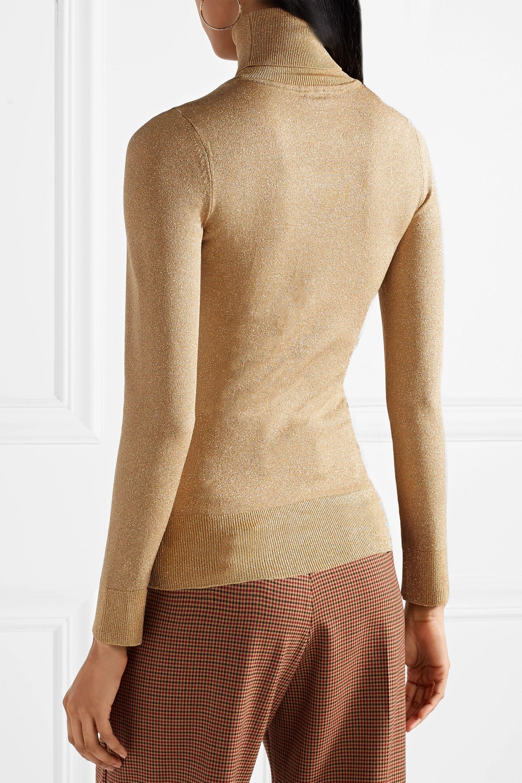 JoosTricot Metallic stretch-knit turtleneck sweater