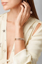 Suzanne Kalan 18-karat rose gold diamond cuff