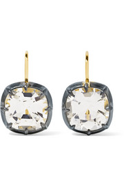 Collection silver-plated, 18-karat gold and topaz earrings