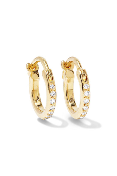 Ileana Makri - 18-karat Gold Diamond Hoop Earrings