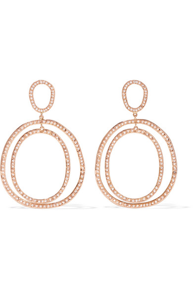 Ileana Makri - Again Double 18-karat Rose Gold Diamond Earrings - one size