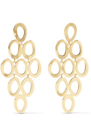 Glamazon Cascade 18-karat gold earrings