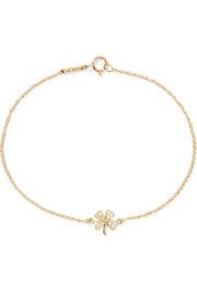 Mini Clover 18-karat gold diamond bracelet