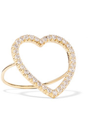 Jennifer Meyer Open Heart 18-karat gold diamond ring