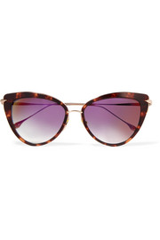 Heartbreaker cat-eye acetate and gold-tone sunglasses