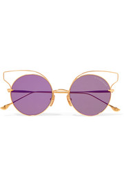 Believer round-frame gold-tone sunglasses