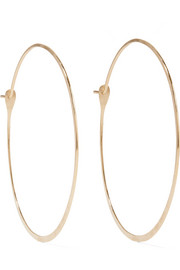 14-karat gold hoop earrings