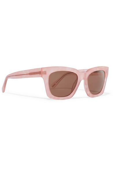 b40f63a4fe83 GANNI   Alice square-frame glittered acetate sunglasses   NET-A ...