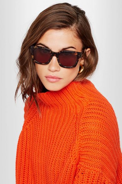 3cad15bfe9eb GANNI   Alice square-frame acetate sunglasses   NET-A-PORTER.COM