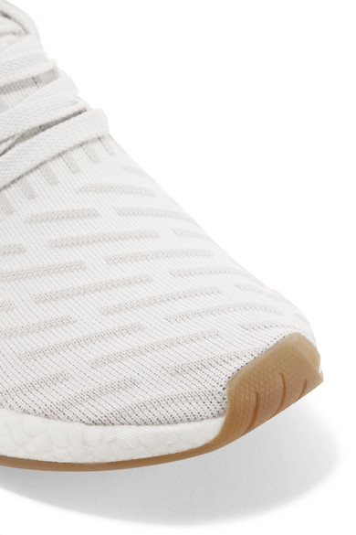 f137742f8 adidas Originals. NMD R2 leather-trimmed Primeknit sneakers.  68. Zoom In