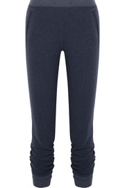 French cotton-blend terry track pants