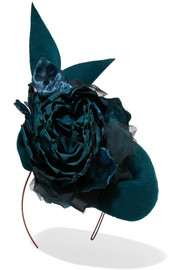 Philip Treacy Embellished velour headpiece