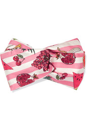 Nature's Candy printed silk-twill headband