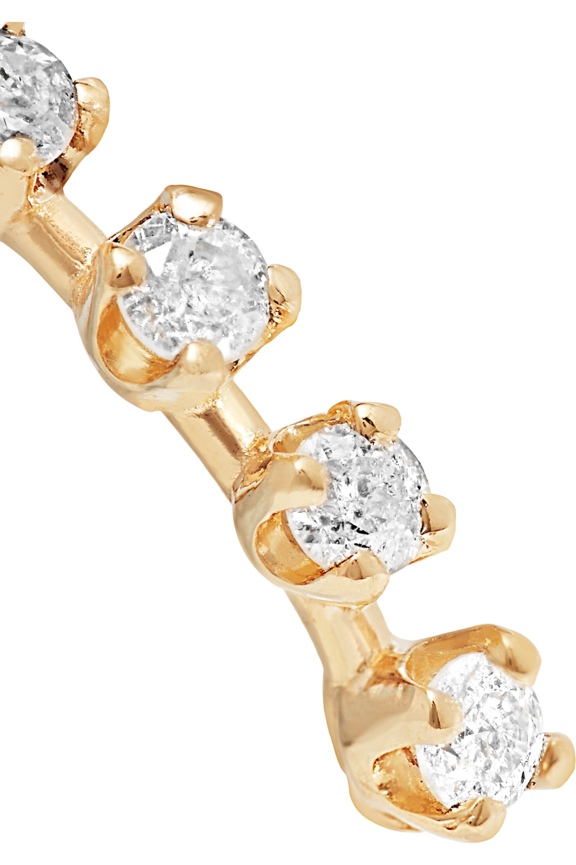 Loren Stewart 14-karat gold diamond earrings