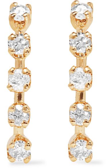 Loren 14 Karat Gold Diamond Earrings