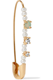 14-karat gold multi-stone earring