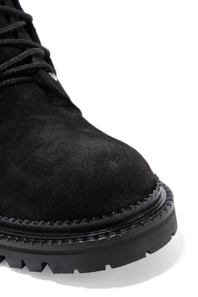 Jimmy Boots Choo | Elba Ankle Boots Jimmy aus Veloursleder mit Shearling-Futter 55eb70