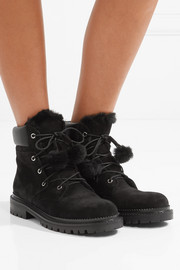 Jimmy Choo Elba shearling-lined suede ankle boots