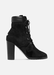 Elba 95 shearling-lined suede ankle boots