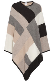 Madeleine Thompson Chiara color-block cashmere poncho