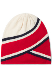 Madeleine Thompson Anastasia striped cashmere beanie