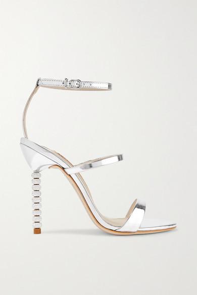 Sophia Webster - Rosalind Crystal-embellished Metallic Leather Sandals - Silver at NET-A-PORTER