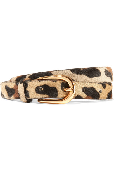 Anderson's - Leopard-print Calf Hair Belt - Leopard print
