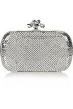 Bottega VenetaKnot sterling silver clutch