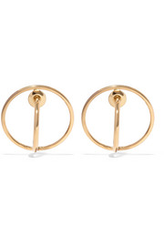 Saturn gold-dipped earrings