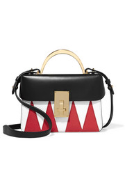 The Volon Data London smooth and textured-leather shoulder bag