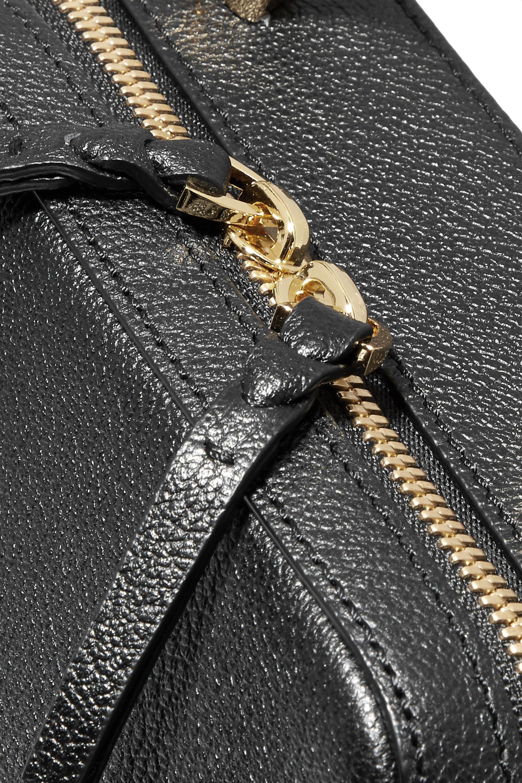 THE VOLON Cube mini textured-leather shoulder bag