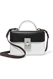 The Volon Data Paris color-block smooth and textured-leather shoulder bag