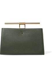 Chateau mini color-block textured-leather clutch