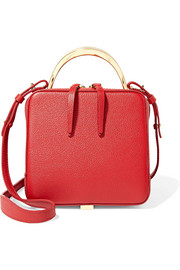 The Volon Cube mini textured-leather shoulder bag