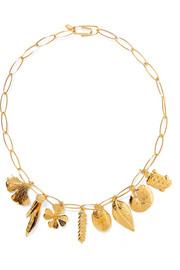 Aurélie gold-plated charm necklace