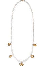 Cheyne Walk faux pearl gold-plated necklace