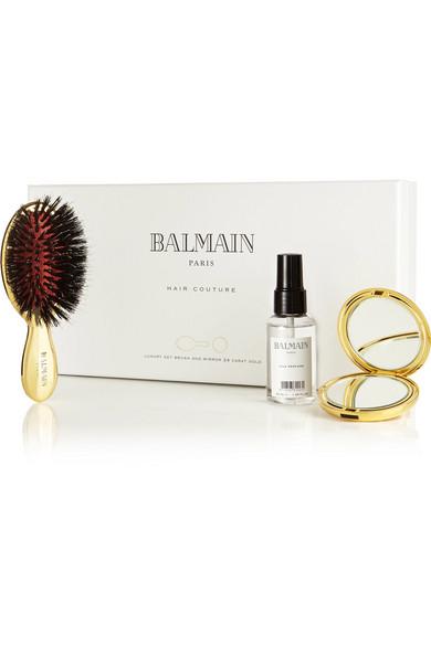 Balmain Paris Hair Couture | Mini Gold-Tone Spa Brush Set