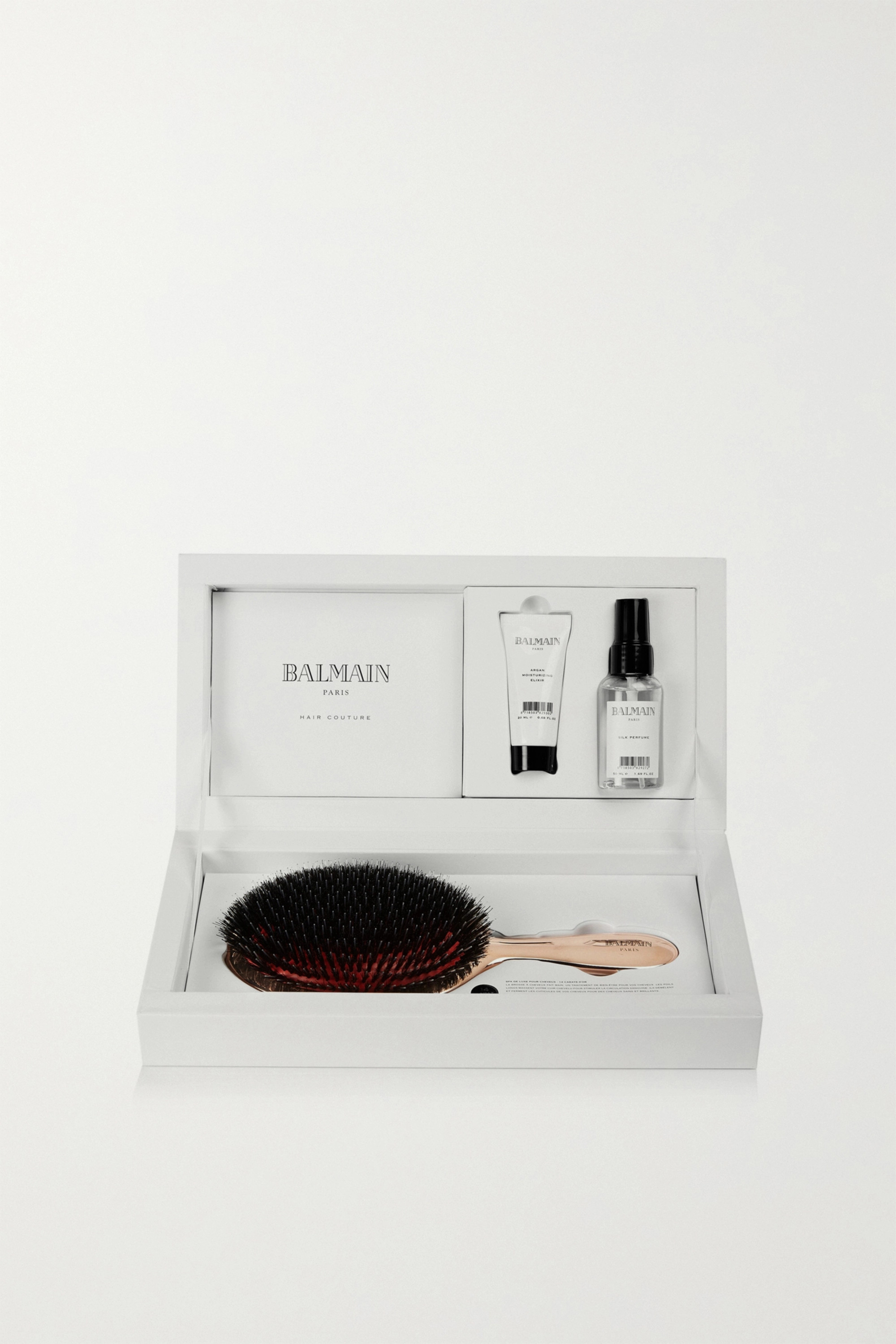 Balmain Paris Hair Couture Rose Gold-Plated Spa Brush Set