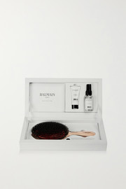 Balmain Paris Hair Couture Rose gold-plated boar bristle brush & haircare set