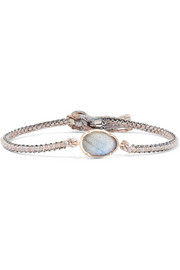 Orbit 14-karat gold, sterling silver and labradorite bracelet