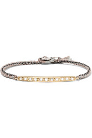 Brooke Gregson 14-karat gold, sterling silver and diamond bracelet